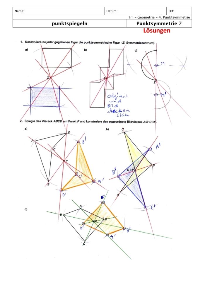 wann ist eine figur punktsymmetrisch