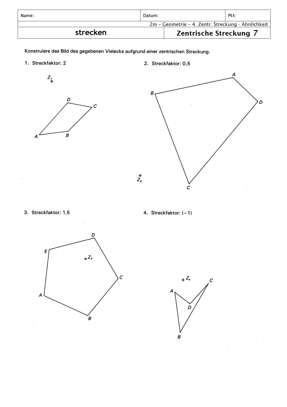 Nice Streckungen Mathe Arbeitsblatt Motif - Kindergarten ...