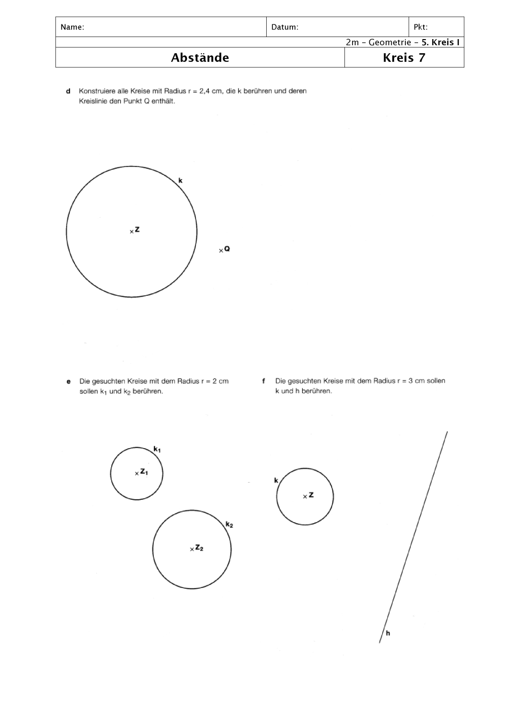 Modern Berührungspunkte Mathe Arbeitsblatt Image - Kindergarten ...