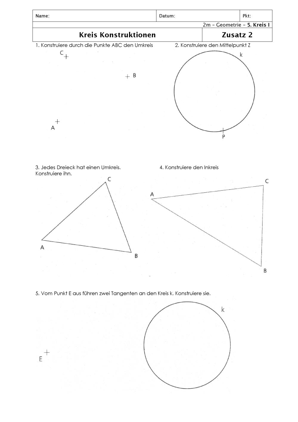 Niedlich Geometrie Kreise Arbeitsblatt Bilder - Super Lehrer ...