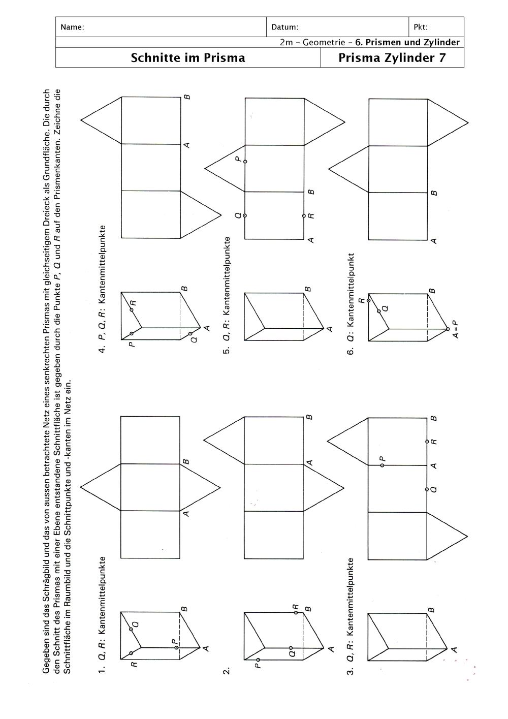 Tolle Oberfläche Von Prismen Und Zylindern Arbeitsblatt ...