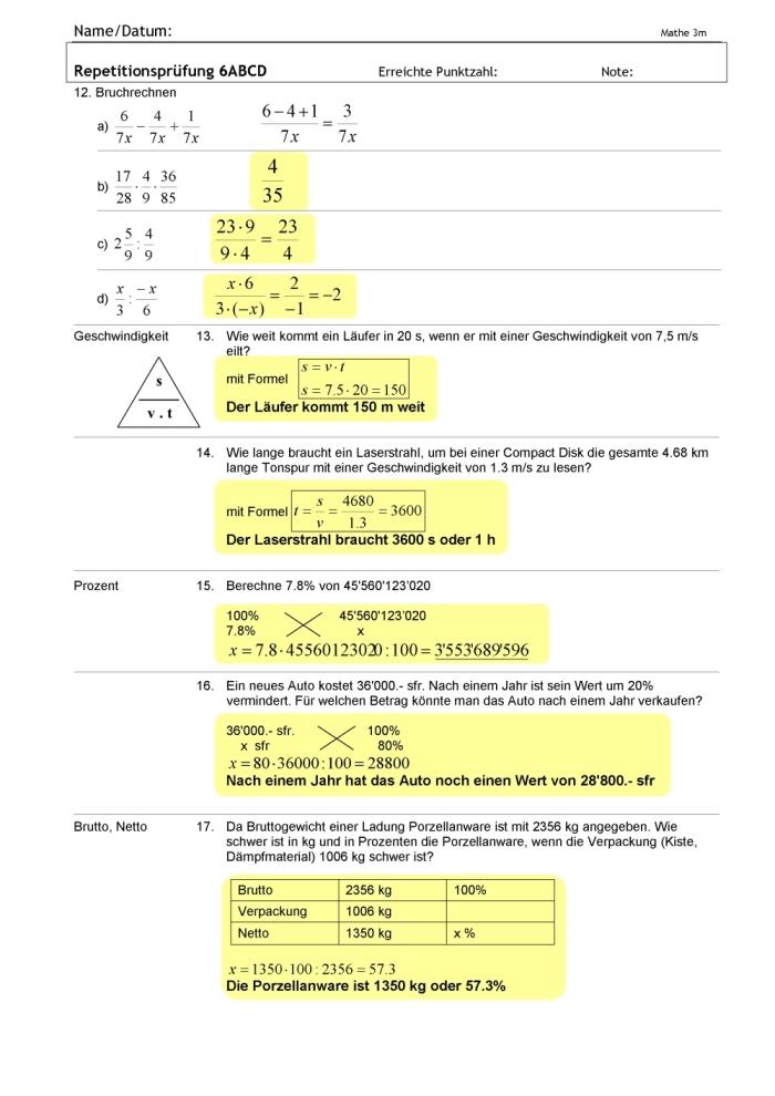 Mathematik 3 Klasse Aufgaben Zeichnung